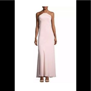NWT Nicole Miller New York gown in blush size 6